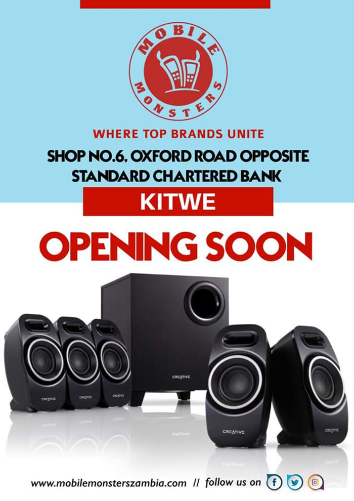 New Mobile Monsters outlet to open in Kitwe