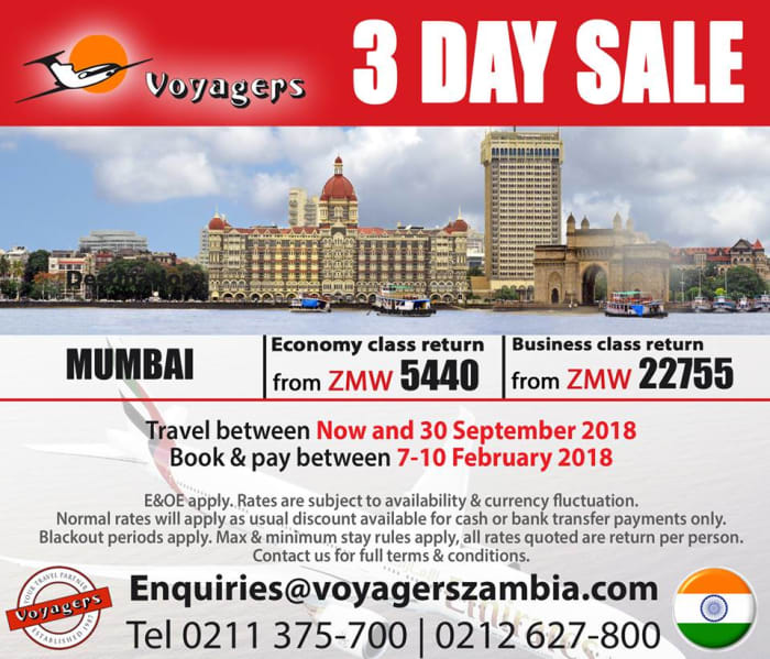 3 day sale on Mumbai flights