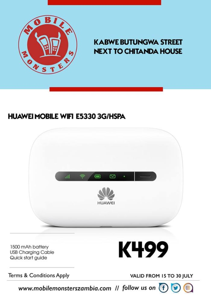 Huawi Mobile Wifi unit available in stock