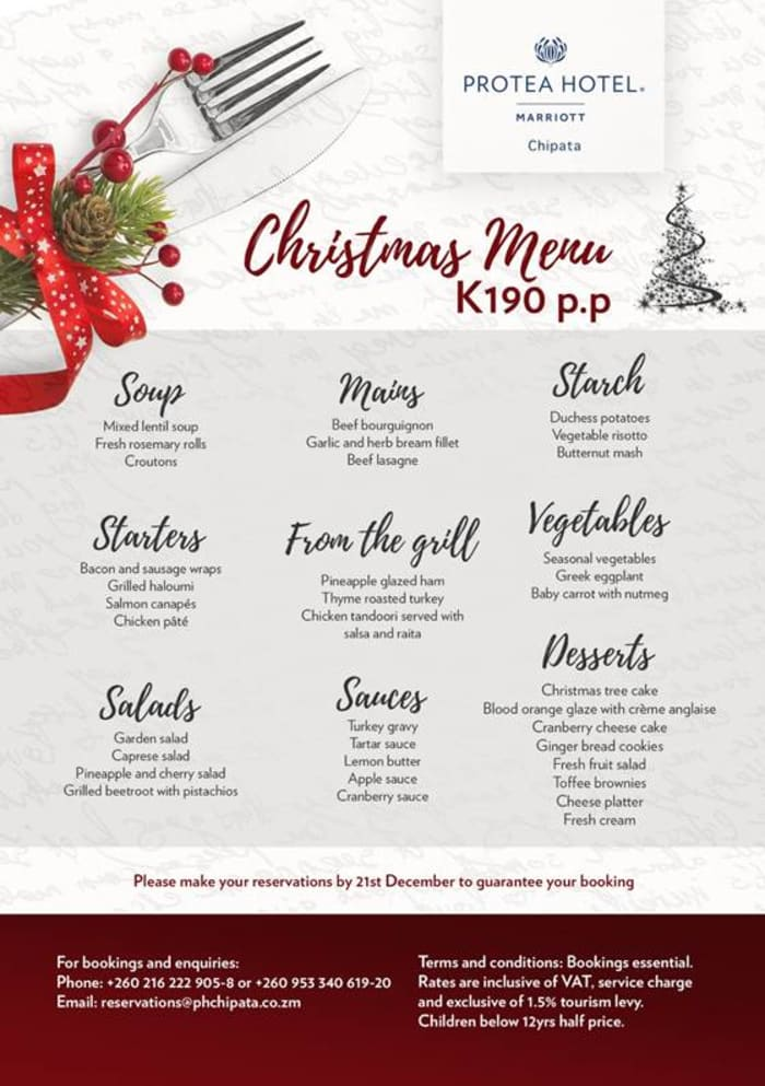 Christmas menu - Chipata