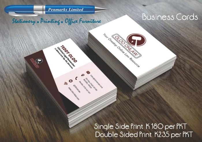 Business cards on special offer