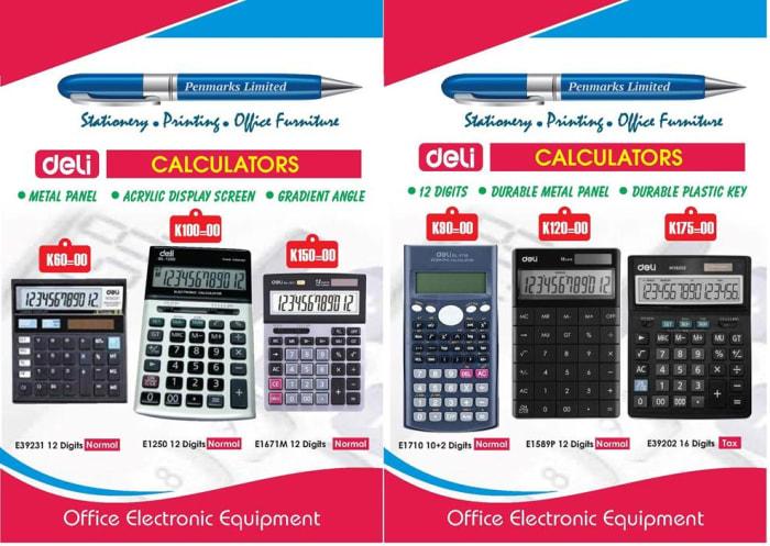 Quality calculators in stock
