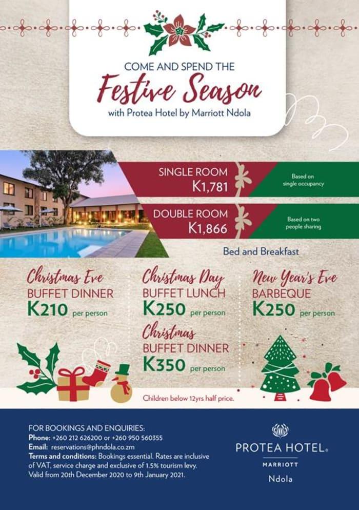 Protea Hotel by Marriott Ndola- Festive Season