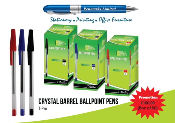 Special offer on crystal barrel ballpoint pens
