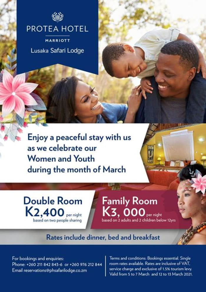 Celebrate Women and Youth day at Protea Hotel Lusaka Safari Lodge
