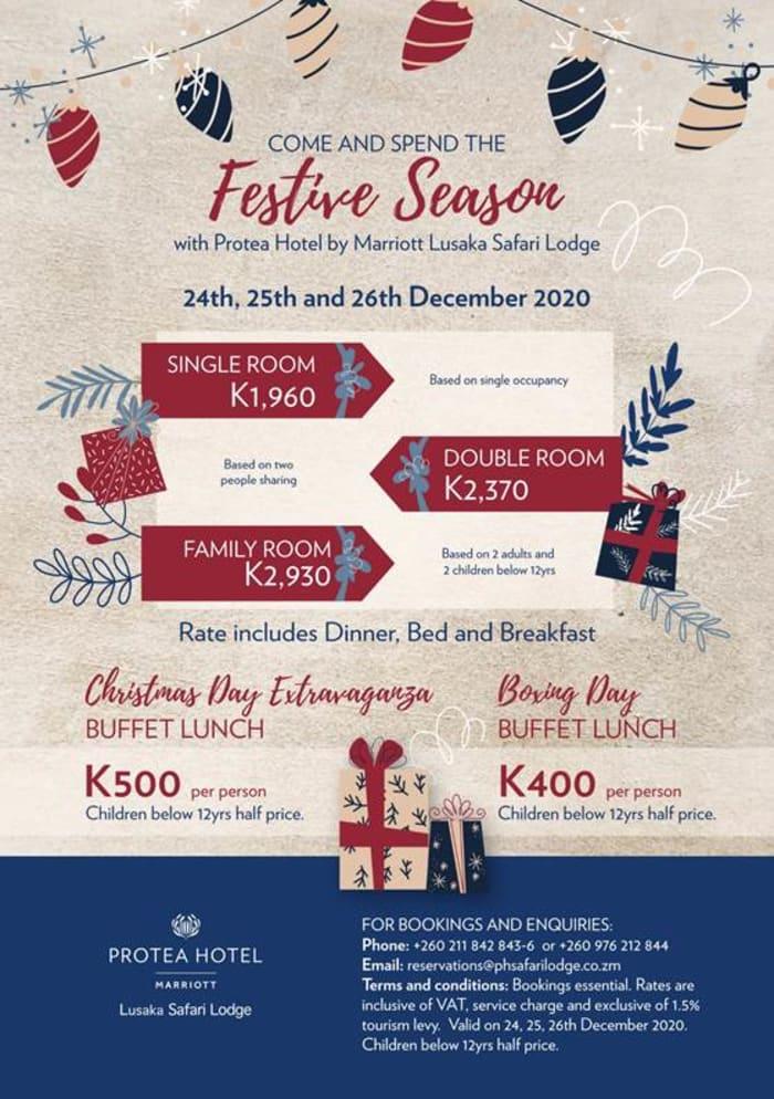 Join Protea Hotel by Marriot Lusaka Safari Lodge this festive season