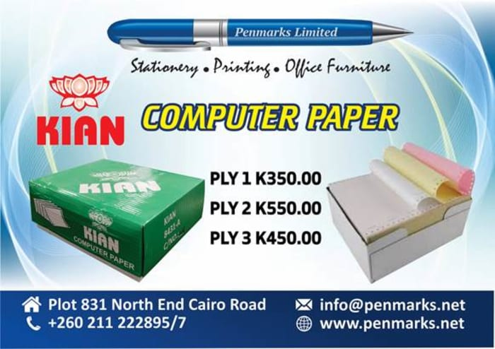A - grade premium computer continuous paper now available in store!