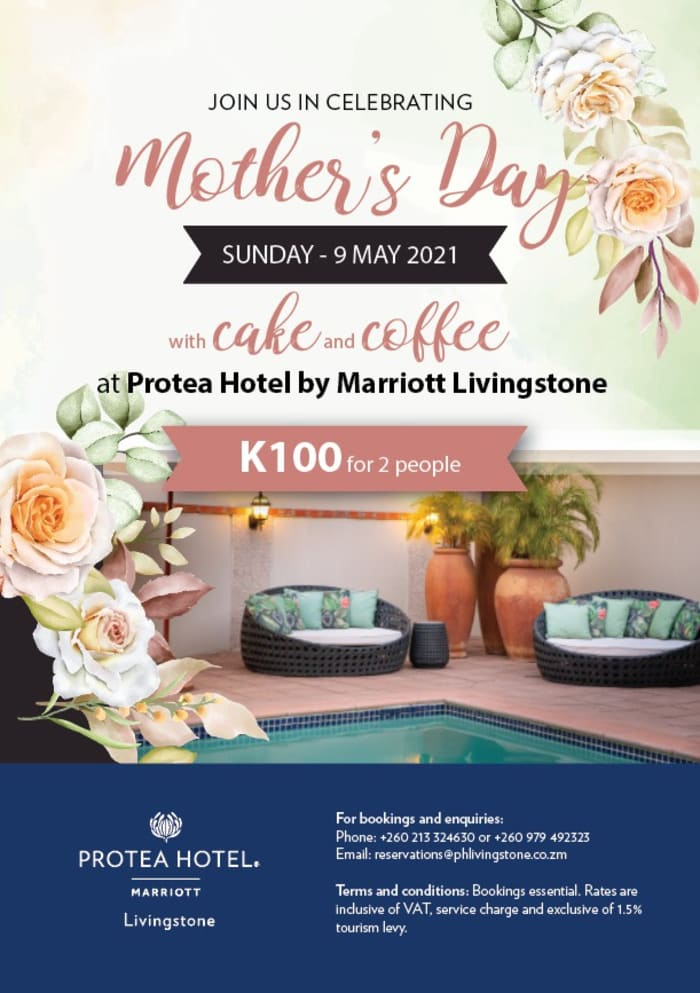 Mother's day special at Protea Hotel by Marriott Livingstone