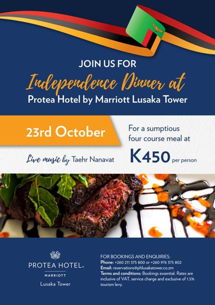 Protea Hotel by Marriott Lusaka Tower- Independence dinner