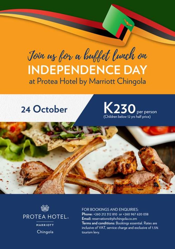 Protea Hotel by Marriott Chingola- Independence Lunch