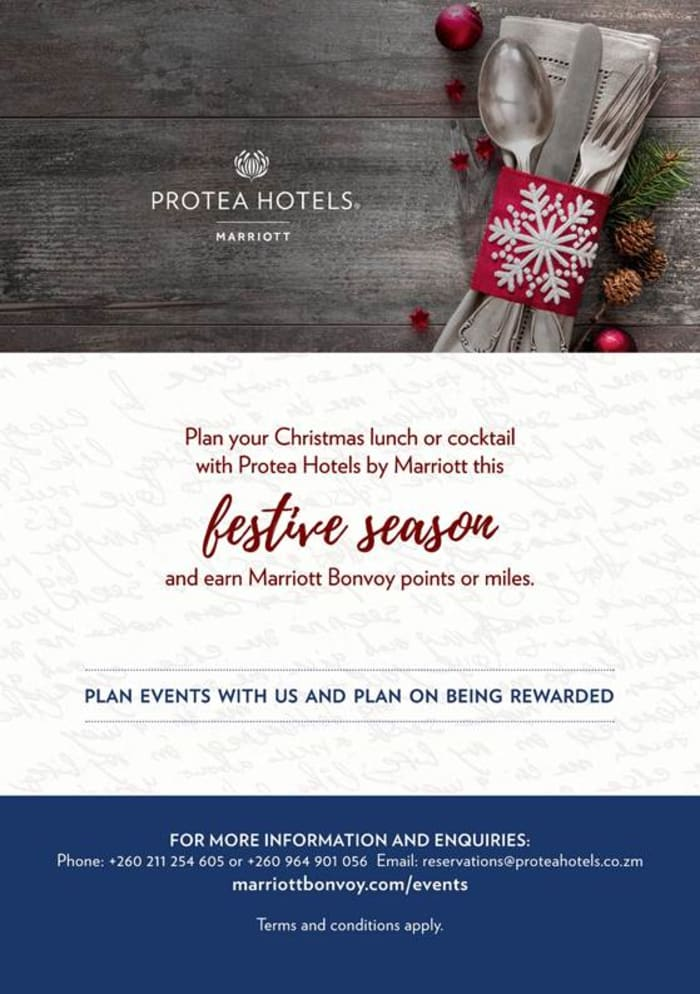 Let Protea Hotels plan your Christmas lunch or cocktail