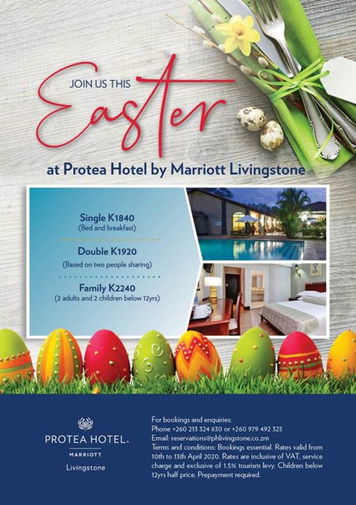 Join Protea Hotel by Marriott Livingstone this Easter