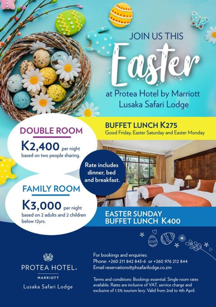 Join Protea Hotel by Marriott Lusaka Safari Lodge this Easter