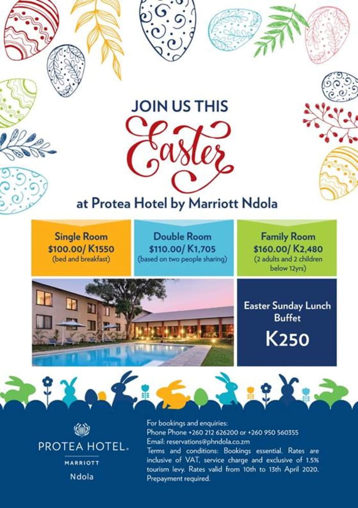 Join Protea Hotel by Marriott Ndola this Easter