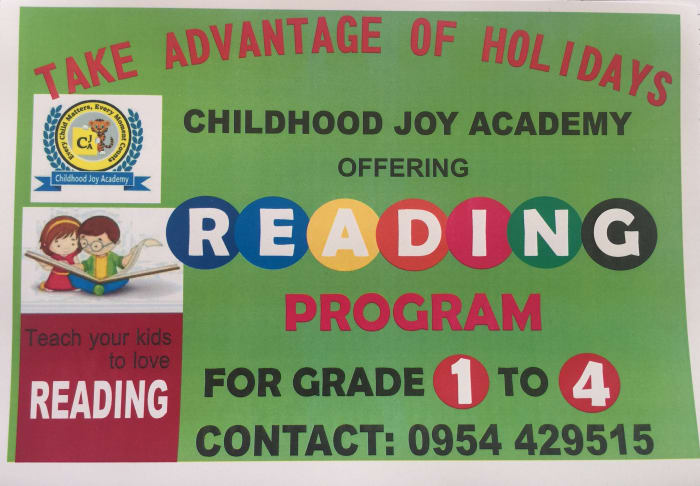 April - May holiday reading program