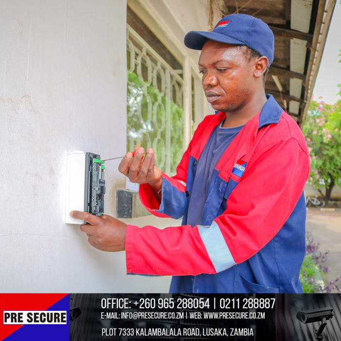 Technical team on hand for security systems