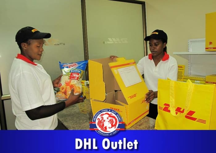 Send and receive gifts through DHL outlet