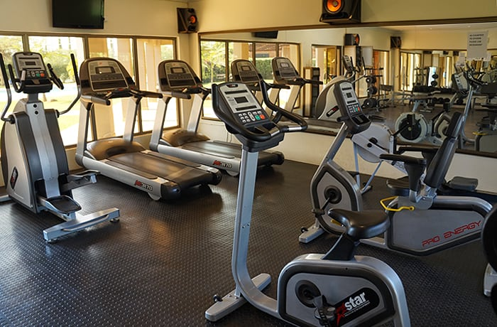 Fully equipped on-site community gym for residents