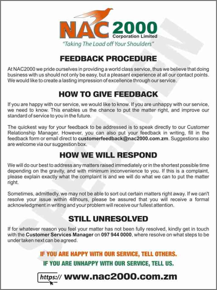 Customer Feedback Procedure