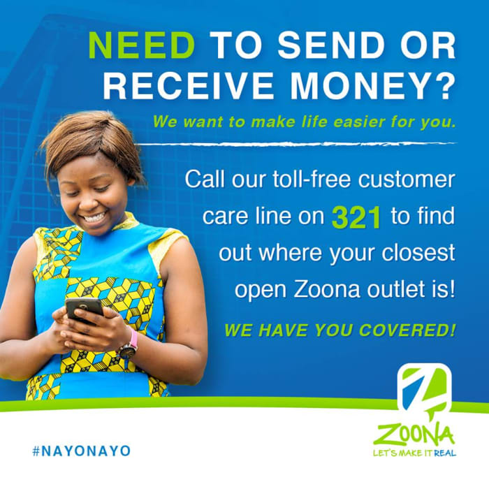 Find an open Zoona outlet during the Cholera cleanup