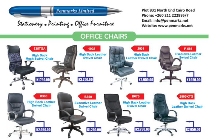 Office chairs available in store