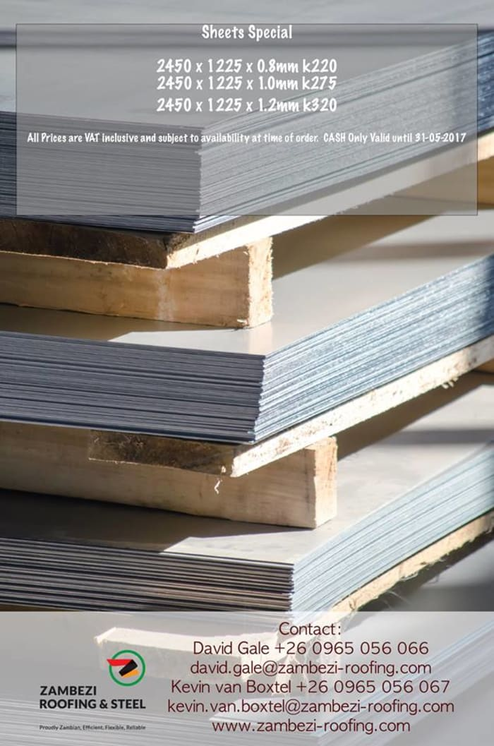 Discounts on roofing sheets