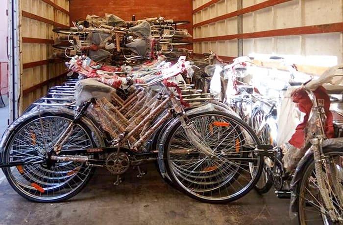 Transported bicycles - Lusaka to kaputa