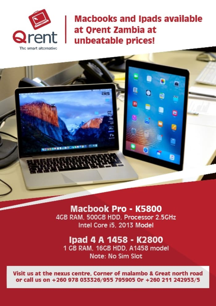 Computers, Macbooks and iPads available at competitive prices