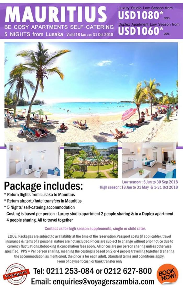 Mauritius self-catering holiday package