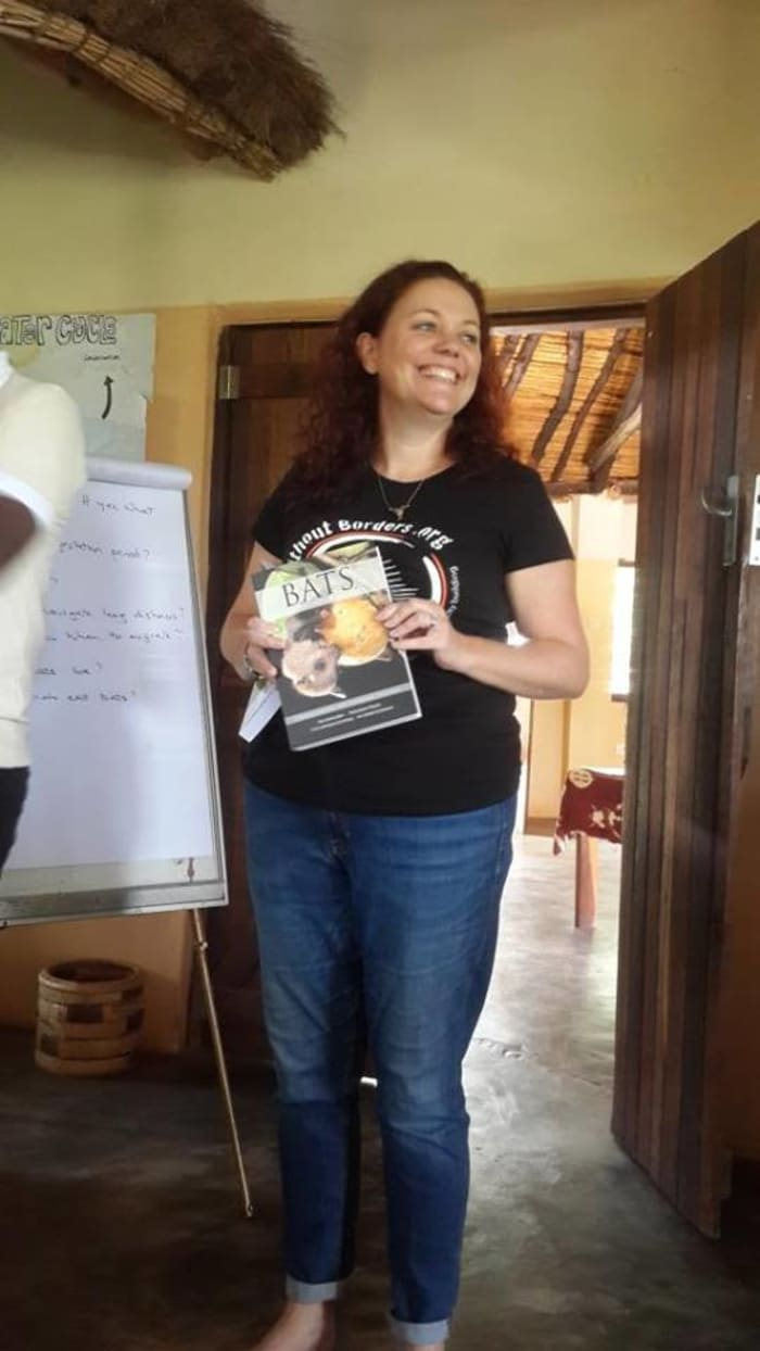 Kasanka team receives training from Bats Without Borders