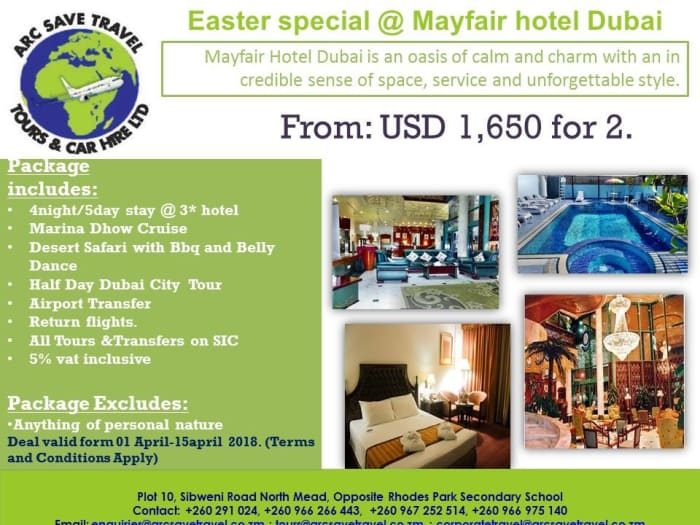 Dubai early bird Easter package