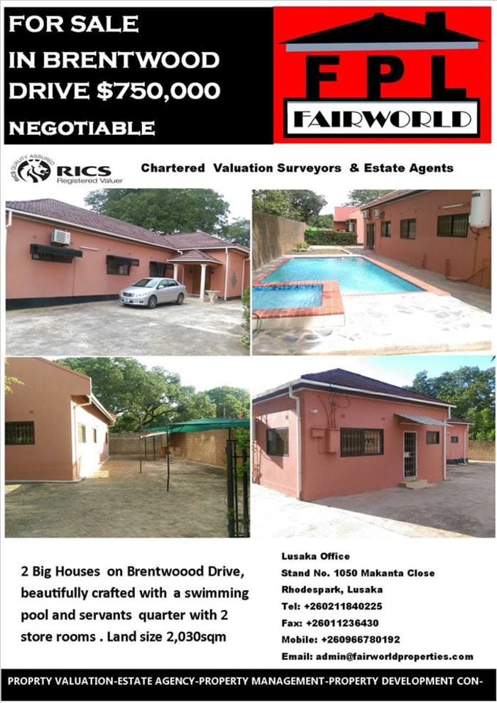 Executive houses for sales on Brentwood Drive