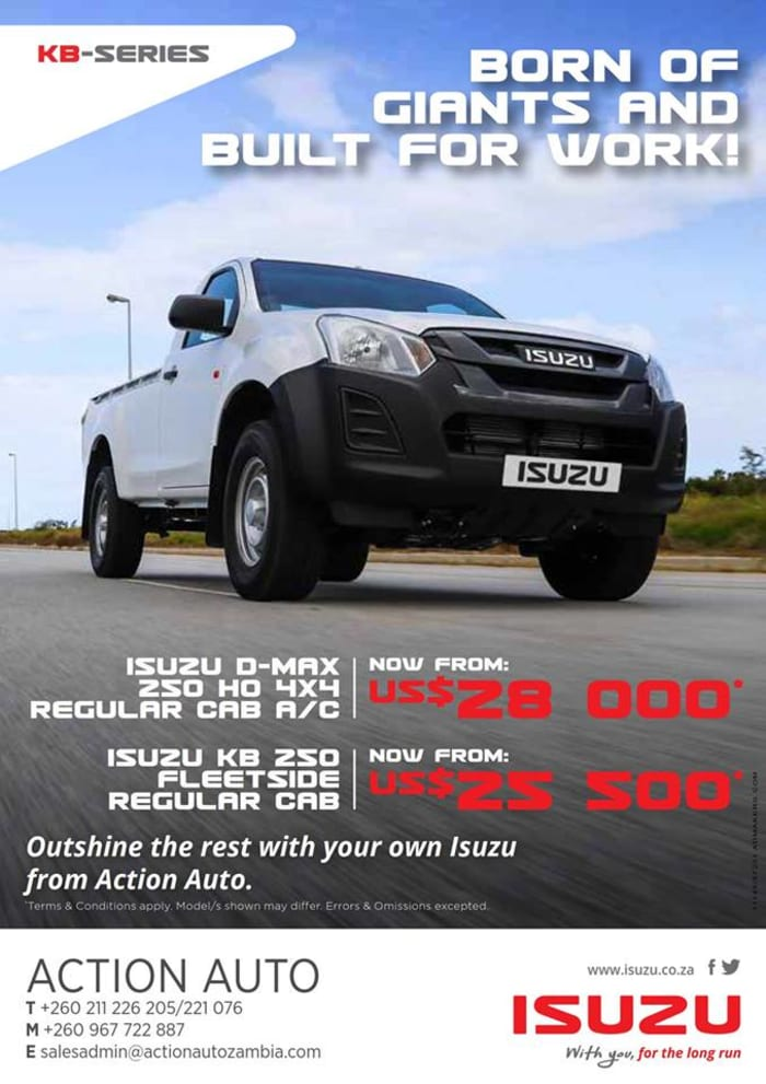 Limited time offer on Isuzu single cab