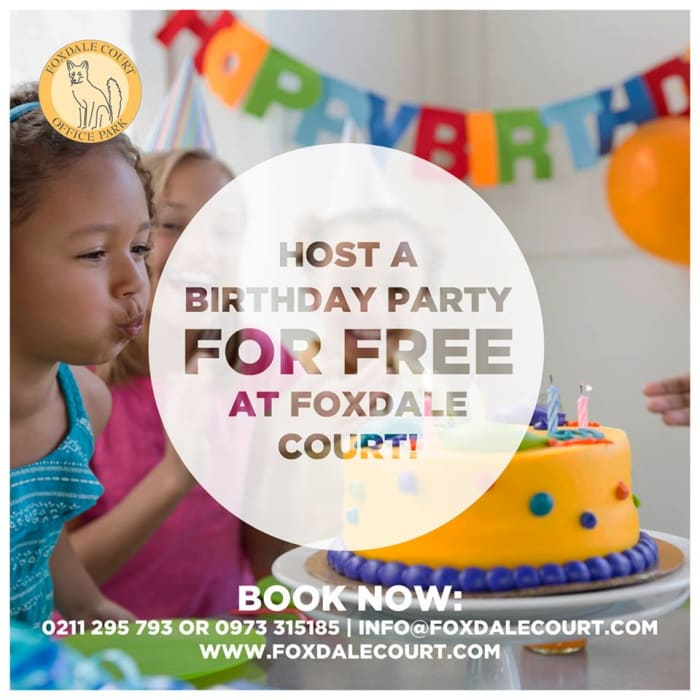 Host a birthday party for free at Foxdale Court
