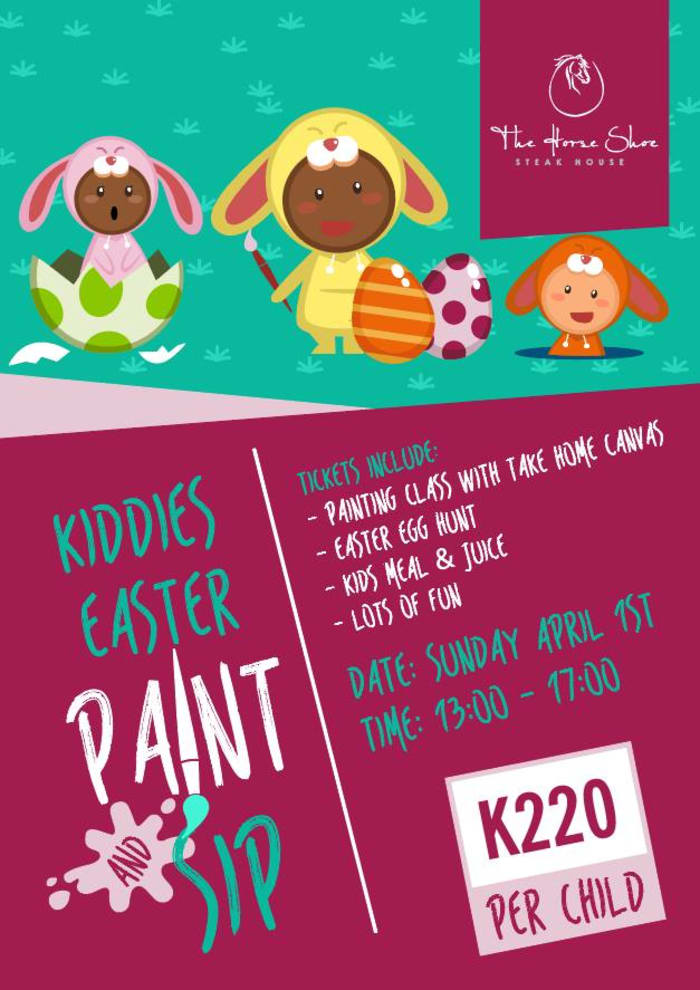 Kiddies Easter Paint & Sip Session