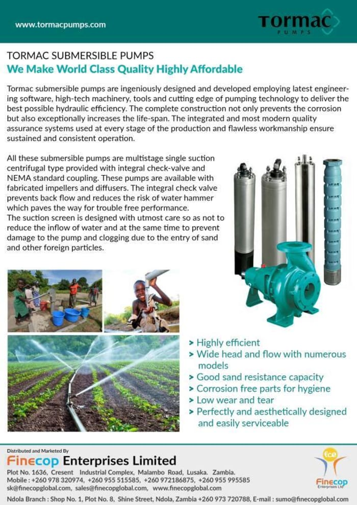 Submersible pumps available