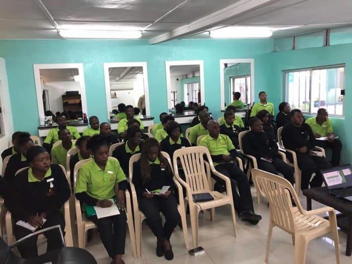 Kozo's team receives customers service training