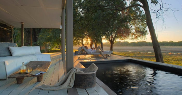 3 nights package at the Chinzombo Safari Camp