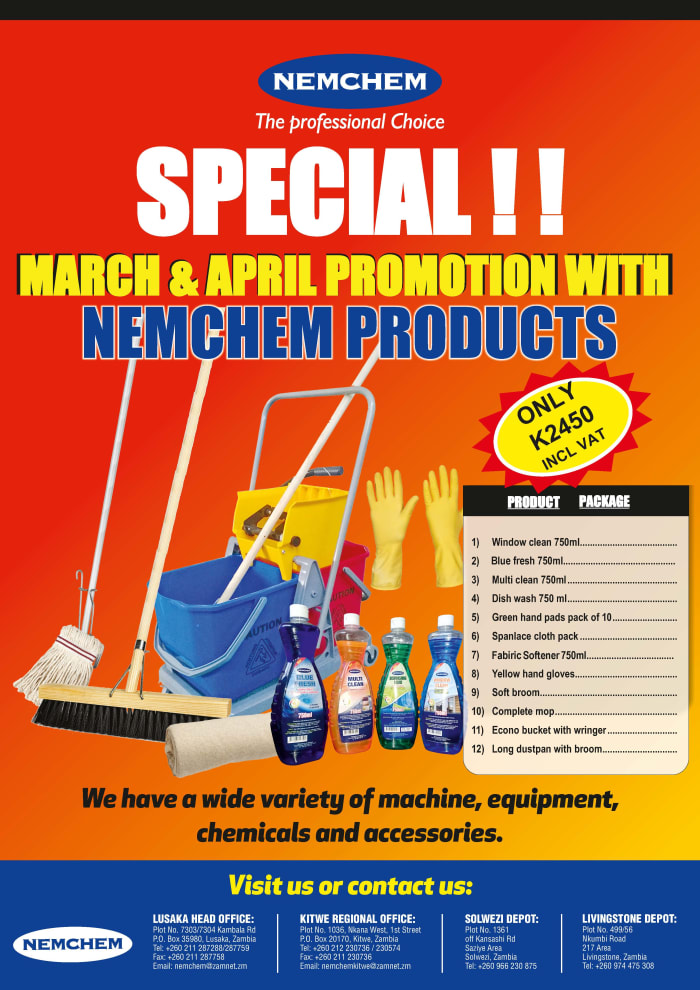 Cleaning products on offer in March and April