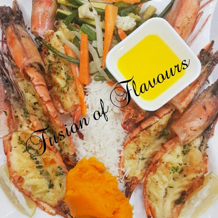 Jumbo Prawns and other delicious dishes available