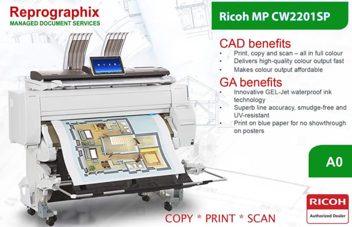 Printer for architects and engineers
