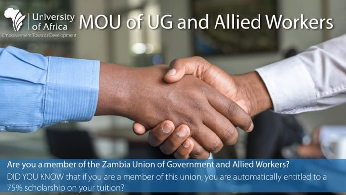 75% scholarship for UG and Allied Workers members