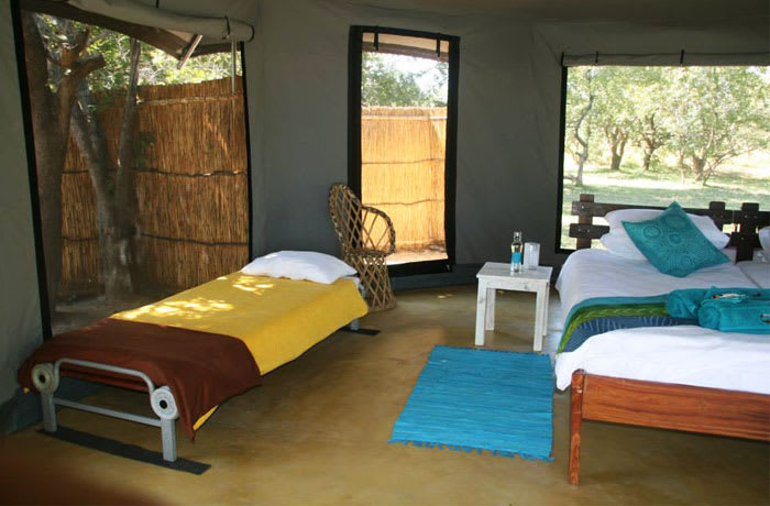 Safari camp accommodation in the Kafue National Park