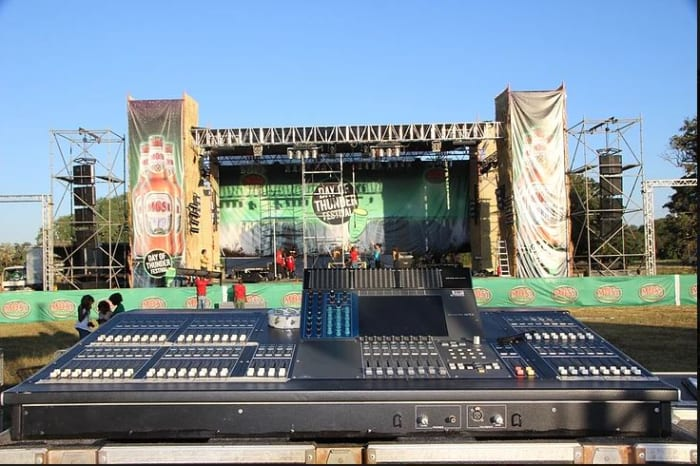 Extensive range of music equipment used in live performance
