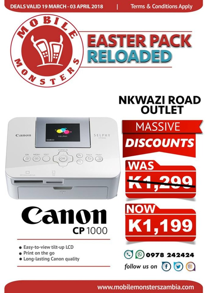 Discount on Canon printer
