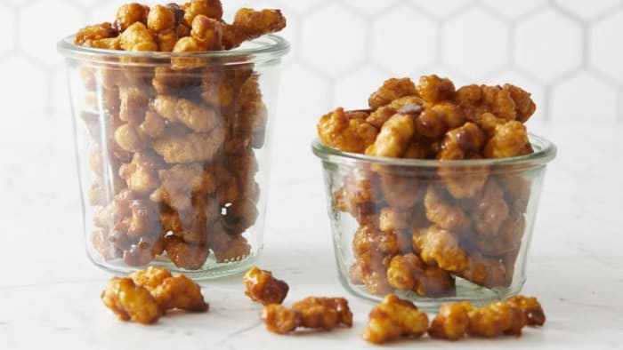 Caramel corn puff recipe to try