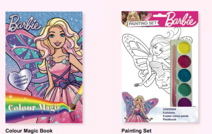 Barbie colouring books available in stores