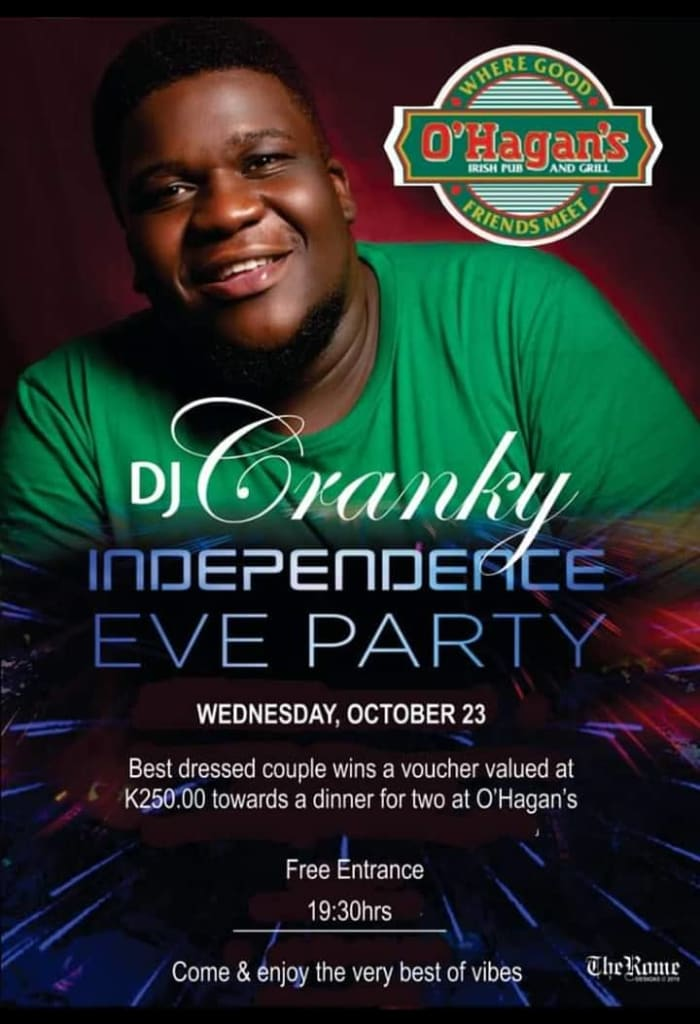 Independence eve party with dj Cranky
