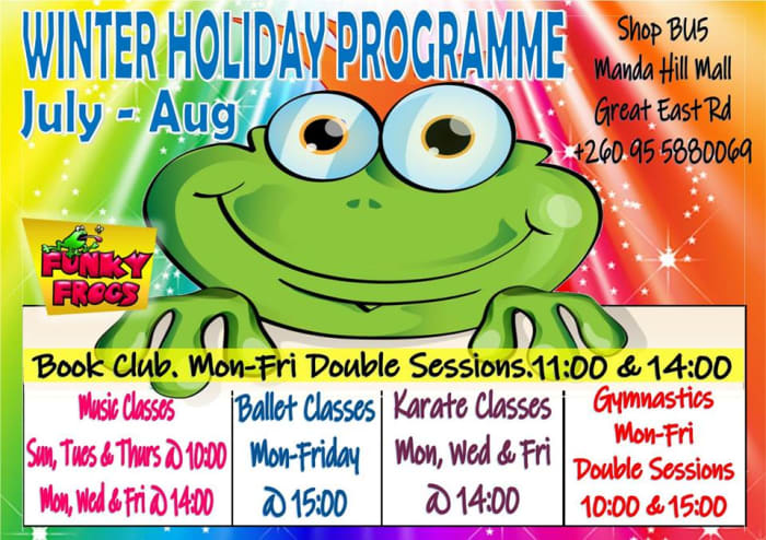 Winter holiday programme at Funky Frogs