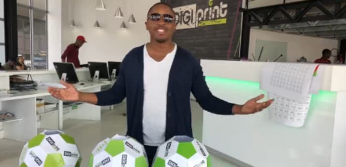 Abel Chungu announces DIGIprint's World Cup competition winners
